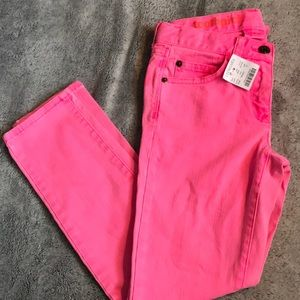 Crew cuts size 10 pink skinny jeans